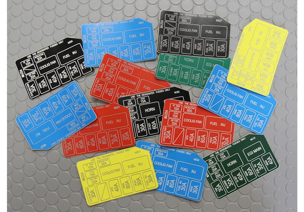 nielex fuse box sticker for mazda miata mx5 89 05 rev9 more views
