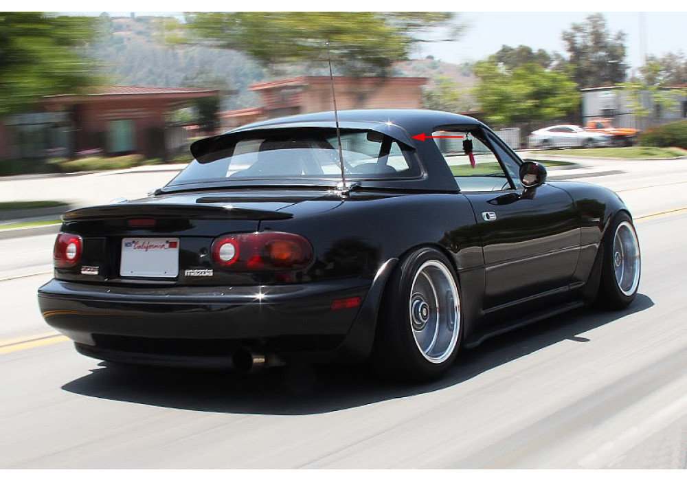 Project g g wing hardtop spoiler for miata mx 5 rev9