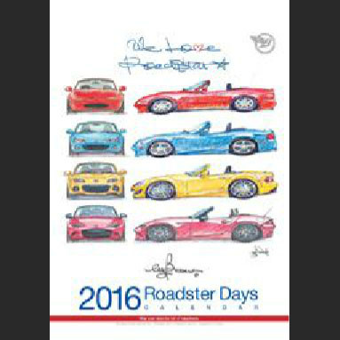 Bow's Roadster Days 2016 Calendar