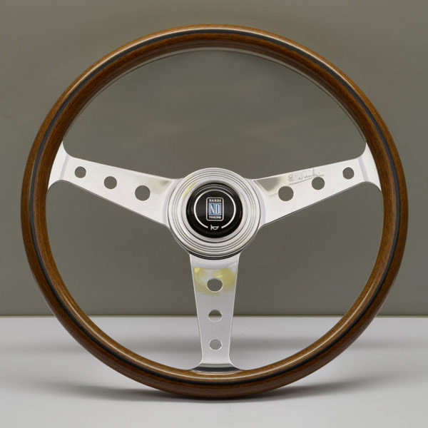 Nardi Classico (Round Holes) Steering Wheel 360MM Wood With Polished Spokes