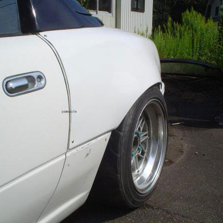 NUE Rear Wide Fenders For Miata MX5 MX-5 89-97 JDM Roadster : REV9 Autosport