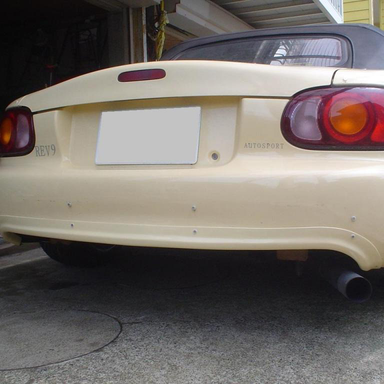 NUE Rear Bumper Garnish For Miata MX5 MX-5 98-05 JDM Roadster : REV9 Autosport