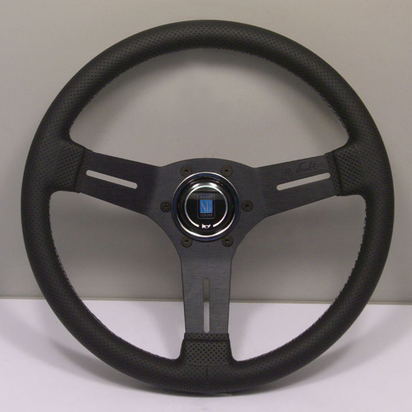 Nardi Competition Steering Wheel 330MM Black Perforated Leather With Black Spokes