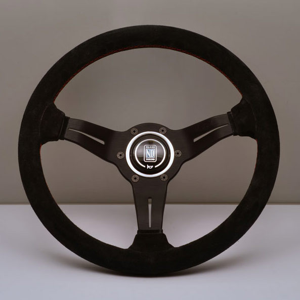 Nardi Deep Corn Steering Wheel 330MM Black Suede With Black Spokes