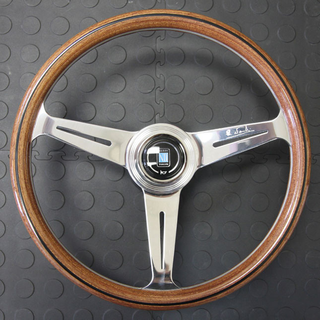 Nardi Classico Steering Wheel 360MM Wood With Polished Spokes For Miata MX5 MX-5 ALL YEARS JDM Roadster : REV9 Autosport
