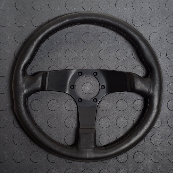Personal Fitti E5 Steering Wheel 350MM Black Polyurethane With Black Spokes For Miata MX5 MX-5 ALL YEARS JDM Roadster : REV9 Autosport