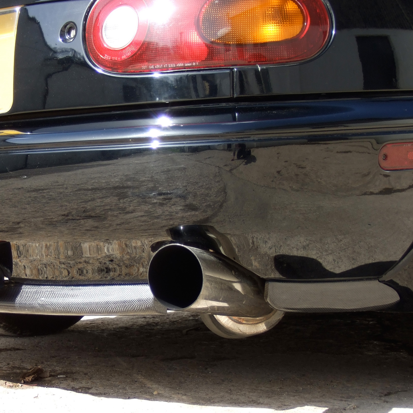 Rev9 oe style rear lip for miata mx5 mx 5 89 97 jdm