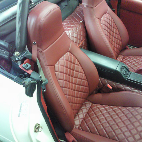 Nakamae Quilted Seat Covers For Miata MX5 MX-5 1989-1997 JDM Roadster : REV9 Autosport