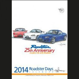 Bow's Roadster Days 2014 Calendar For Miata MX5 MX-5 ALL YEARS JDM Roadster : REV9 Autosport
