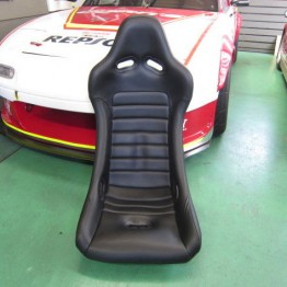 Car Make Corn's Black Leather Racing Seat