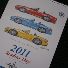 Bow's Roadster Days 2011 Calendar For Miata MX5 MX-5 ALL YEARS JDM Roadster : REV9 Autosport