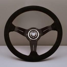 Nardi Deep Corn Steering Wheel 330MM Black Suede With Black Spokes