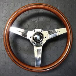 Nardi Deep Corn Steering Wheel 330MM Wood With Polished Spokes For Miata MX5 MX-5 ALL YEARS JDM Roadster : REV9 Autosport