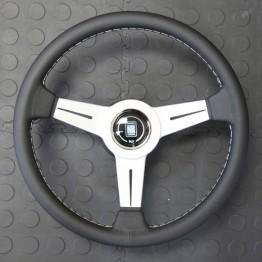 Nardi Classico Steering Wheel 340MM - Black Leather With White Spokes For Miata MX5 MX-5 ALL YEARS JDM Roadster : REV9 Autosport