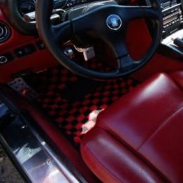 Zeromotive Checkered Floor Mats (Small Pattern) For Miata MX5 MX-5 1989-2005 JDM Roadster : REV9 Autosport