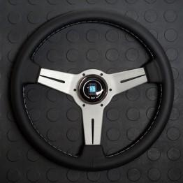 Nardi Classico Steering Wheel 330MM - Black Leather With White Spokes For Miata MX5 MX-5 ALL YEARS JDM Roadster : REV9 Autosport