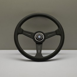 Nardi Classico Steering Wheel 340MM Black Perforated Leather With Black Spokes