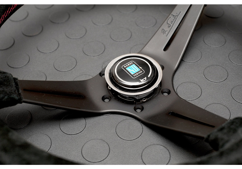 Nardi Deep Corn Steering Wheel 350MM Black Suede With ...