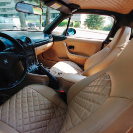 Nakamae Quilted Seat Covers For Miata Mx 5 Nb Rev9