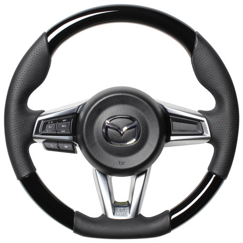 Real Gun Grip Piano Black Steering Wheel