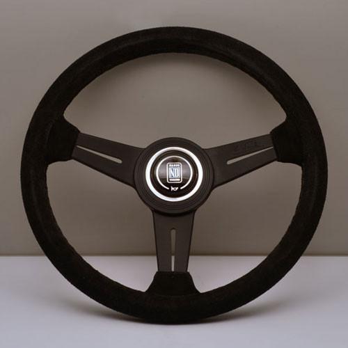 Nardi Classico Steering Wheel 340MM Black Suede With Black Spokes