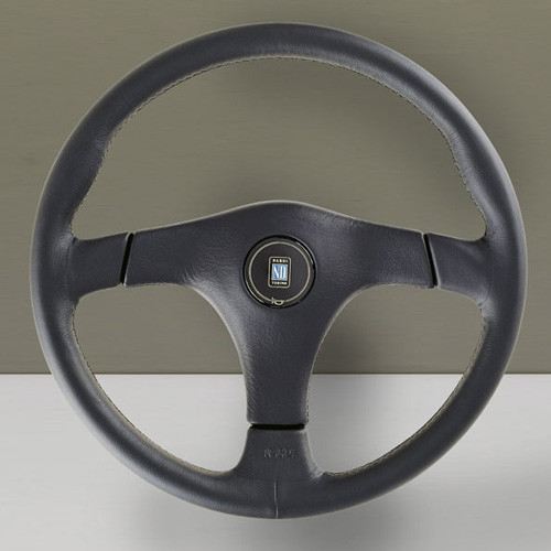 Nardi Gara3 Type-3 Steering Wheel 365MM Black Leather With Black Spokes