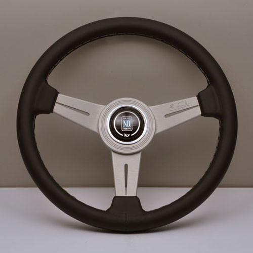 Nardi Classico Steering Wheel 360MM Black Leather With White Spokes