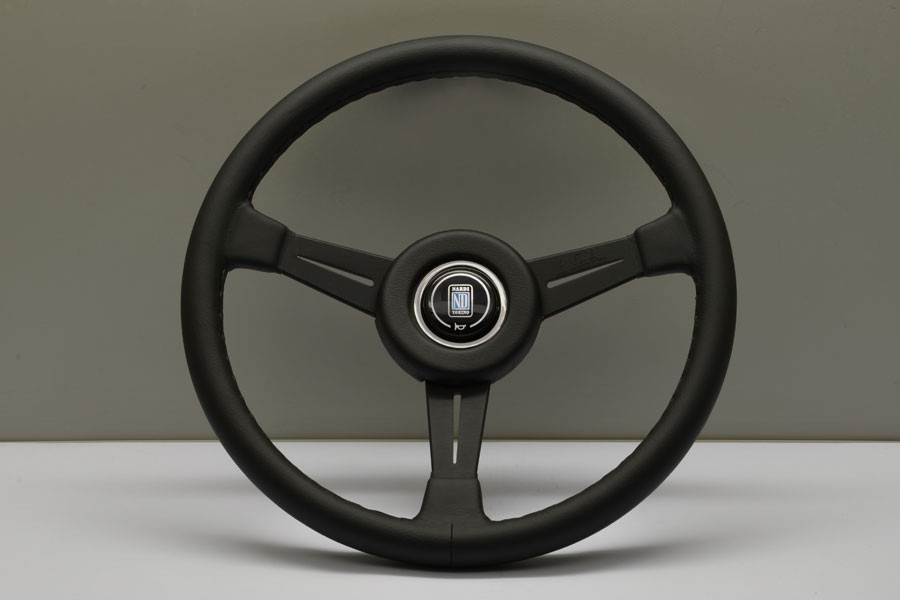 Nardi Classico Steering Wheel 360MM Black Leather With Black Spokes (Black Leather Ring)
