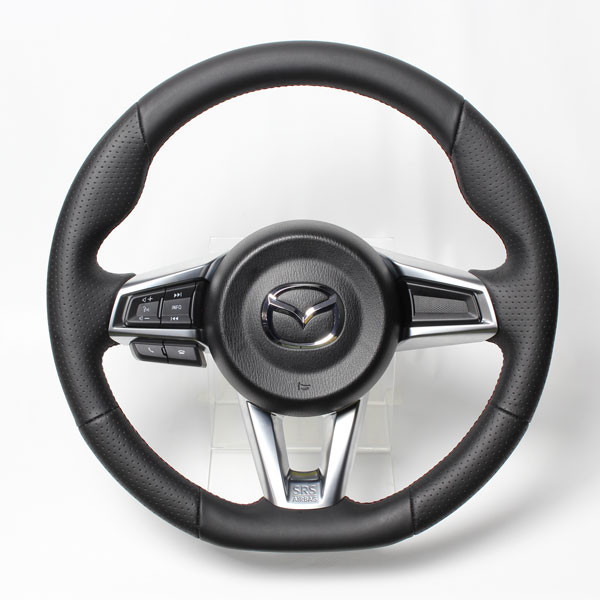 Real Gun Grip Leather Steering Wheel