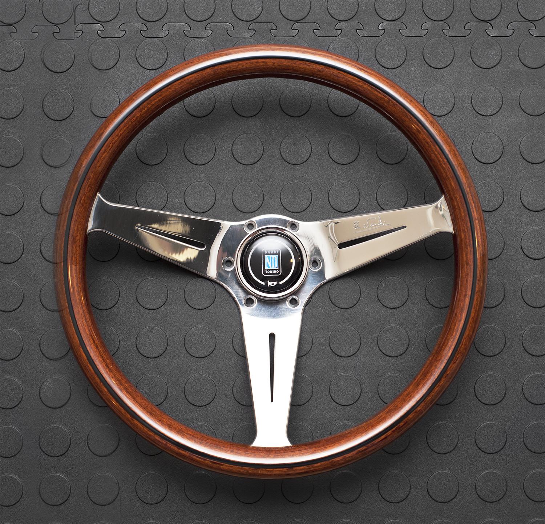Nardi Deep Corn Steering Wheel 350MM Wood With Polished Spokes For Miata MX5 MX-5 ALL YEARS JDM Roadster : REV9 Autosport