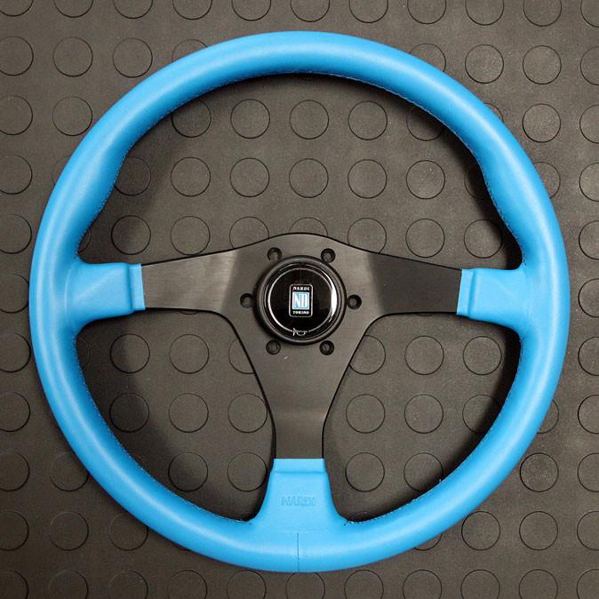 Nardi Gara-3 Type-3 360MM Blue Leather with Black Spokes For Miata MX5 MX-5 ALL YEARS JDM Roadster : REV9 Autosport