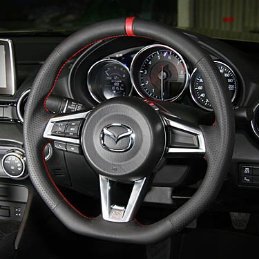 autoexe sports steering wheel for miata mx5 2016 rev9