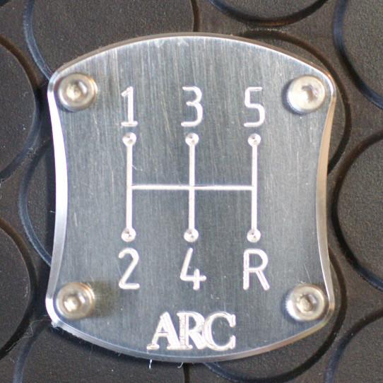 ARC Shift Pattern Plate For Miata MX5 MX-5 ALL YEARS JDM Roadster : REV9 Autosport
