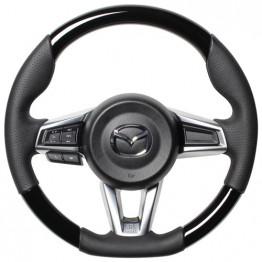 Real Gun Grip Piano Black Steering Wheel