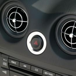 KG Works Chrome Hazard Button Ring