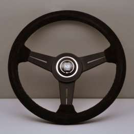 Nardi Classico Steering Wheel 340MM Black Suede With Black Spokes