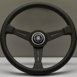 Nardi Classico Steering Wheel 360MM Black Leather With Black Spokes