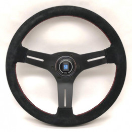 Nardi Competition Steering Wheel 330MM Black Suede With Black Spokes