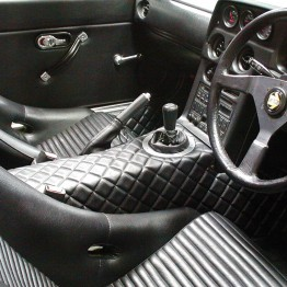 Nakamae Quilted Center Console For Manual Windows For Miata MX5 MX-5 89-05 JDM Roadster : REV9 Autosport