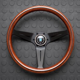 Nardi Deep Corn Steering Wheel 350MM Wood With Black Spokes For Miata MX5 MX-5 ALL YEARS JDM Roadster : REV9 Autosport