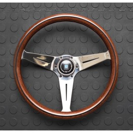 Nardi Deep Corn Steering Wheel 350MM Wood With Polished Spokes For Miata MX5 MX-5 ALL YEARS JDM Roadster : REV9 Autosport