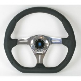 Nardi Kallista (75th anniversary) Steering Wheel 350MM Black Leather With Polished Spokes For Miata MX5 MX-5 ALL YEARS JDM Roadster : REV9 Autosport