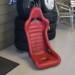 Car Make Corn's Red Leather Racing Seat