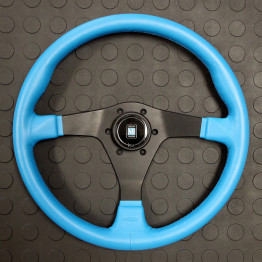 Nardi Gara-3 Type-3 360MM Blue Leather with Black Spokes For Miata MX5 MX-5 ALL YEARS JDM Roadster : REV9 Autosport