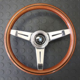 Nardi Classico Steering Wheel 340MM Wood With Polished Spokes For Miata MX5 MX-5 ALL YEARS JDM Roadster : REV9 Autosport