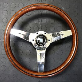 Nardi Deep Corn Steering Wheel 330MM Wood With Polished Spokes For Miata MX5 MX-5 ALL YEARS JDM Roadster : REV9 Autosport