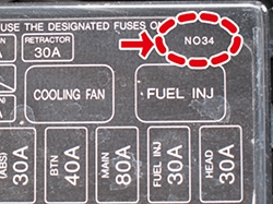 please find this number on your car's fuse box to have the correct diagram: